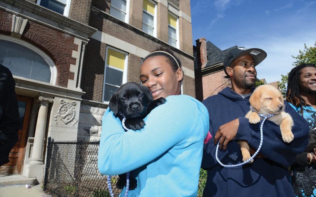 Inclusion = Lifesaving: girl with dog