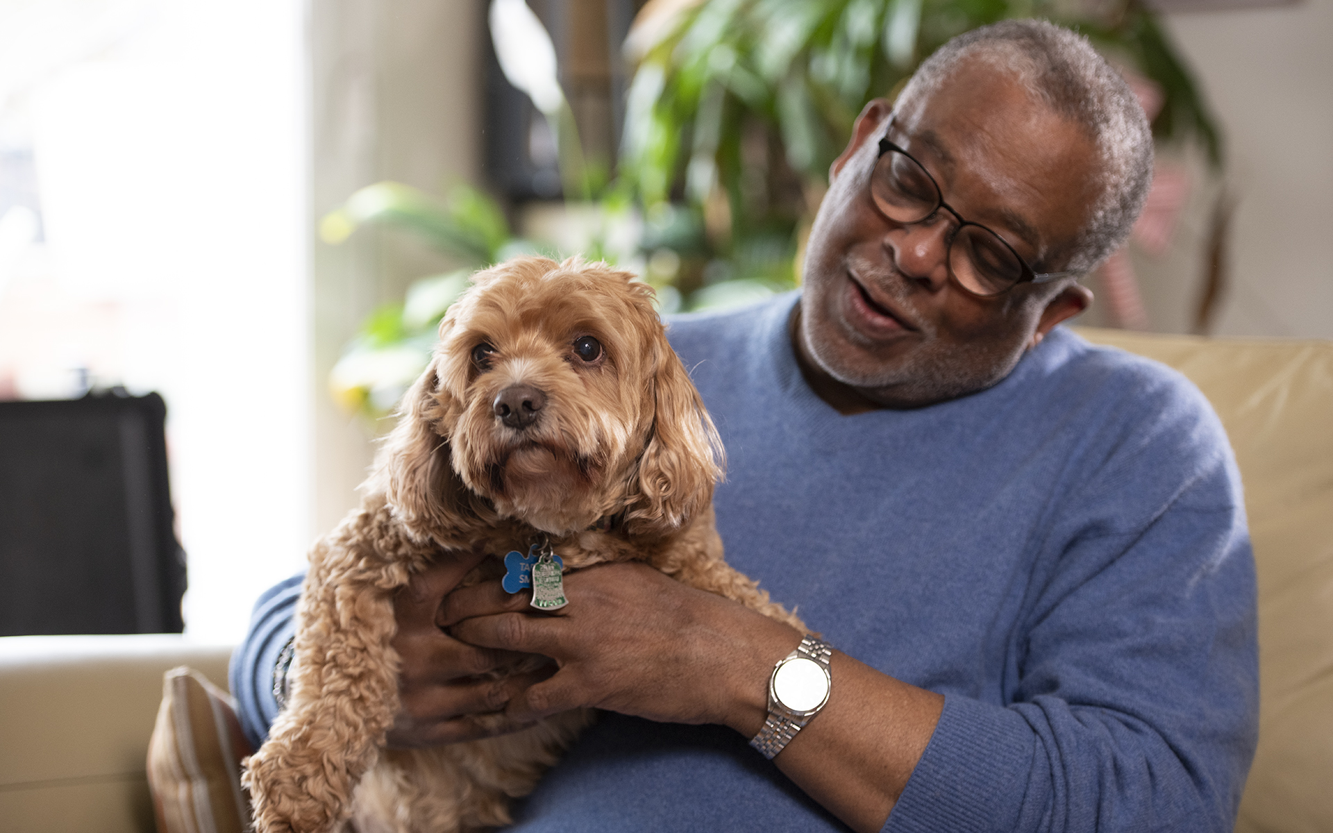 Inclusion = Lifesaving: man with dog