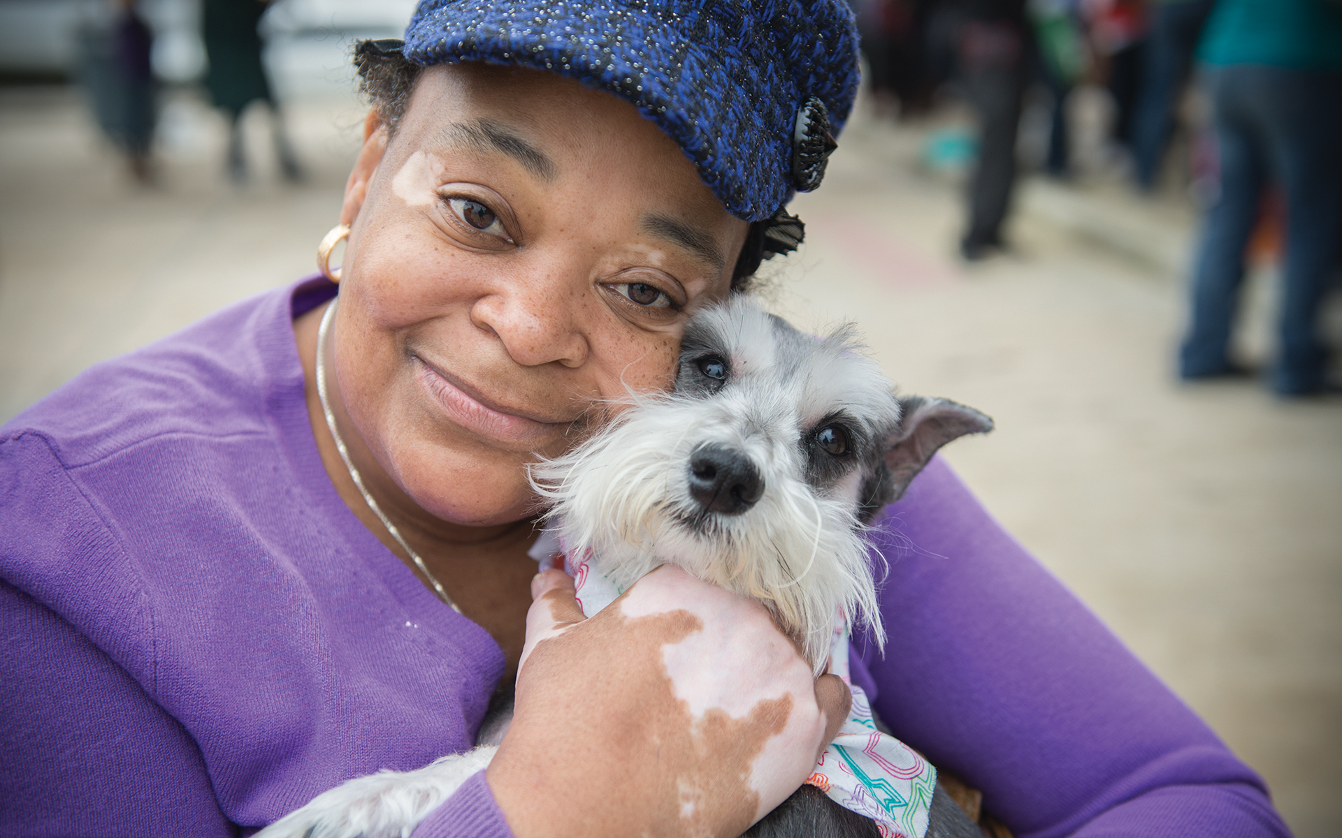 Inclusion = Lifesaving: Women with dog